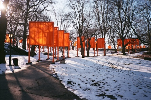 Wandering through The Gates in Central Park in early 2005