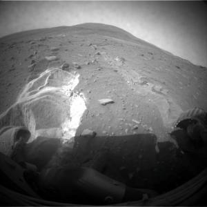 Spirit stuck in the sand, Courtesy of NASA/JPL-Caltech