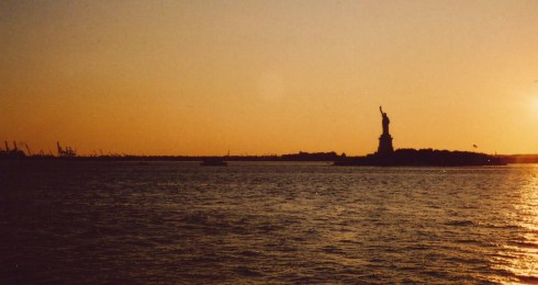 Summer afternoon in 2004-- view from the Staten Island Ferry, the harbor tour on an intern's budget