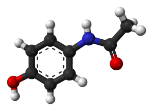 Acetaminophen structure via Wikipedia (benjah-bmm27)